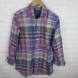 Ralph Lauren Multicolored Plaid Button Down Shirt